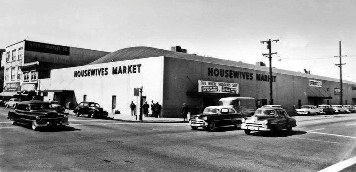 c.1955 photo of Housewives Market