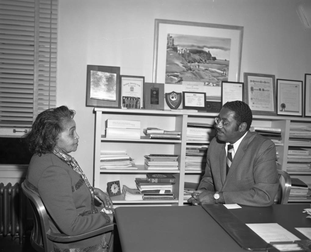 Dr. Ida Louise Jackson and Dr. Marcus Foster